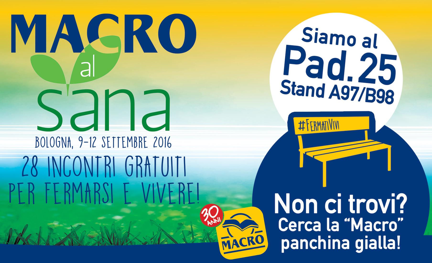 Macro appuntamenti al sana 2016 for Sana bologna 2016